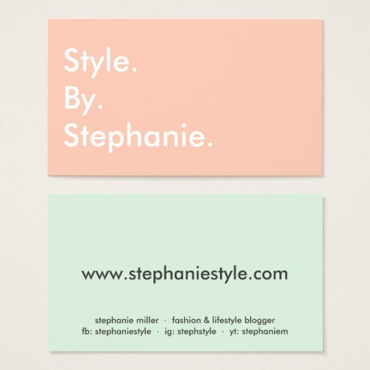 Chic modern pastel coral mint hue fashion blogger
