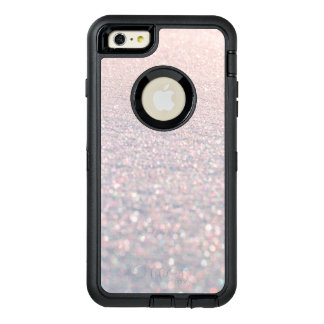 Chic modern pink stylish faux glitter pattern OtterBox defender iPhone case