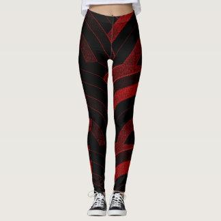 chic modern red/black chevrons leggings