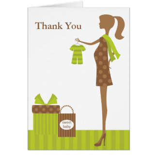 Chic Mom To Be Baby Shower Greeting Cards