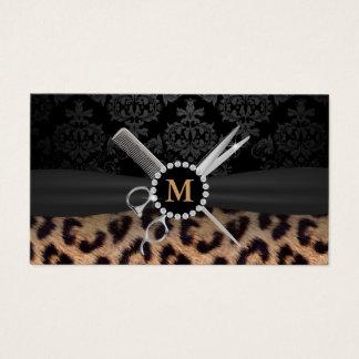 Chic Monogram Leopard Print Hair Stylist