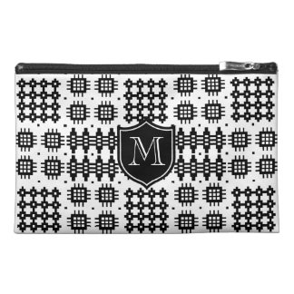 Chic Monogrammed Faux Welsh Tapestry Pattern Travel Accessory Bags