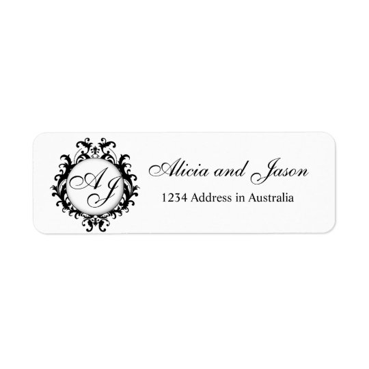 Chic Monograms for Weddings Return Address Labels
