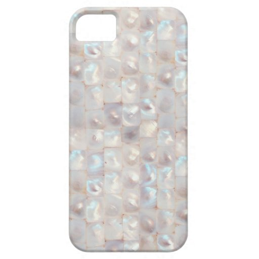 Chic Mother of Pearl Elegant Mosaic Pattern iPhone 5 Cases