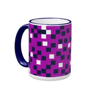 CHIC MUG_NAVY/WHITE TILES ON BERRY RINGER COFFEE MUG