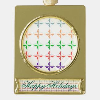 Chic multi color diamond star elegant modern girly gold plated banner ornament