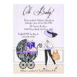 Chic Mum and Buggy with Gifts Announcement