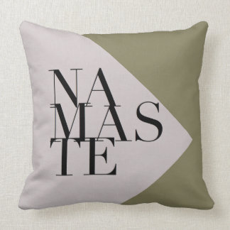 Chic Namaste Yoga Inspired Square Pillow