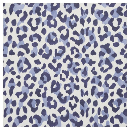 9413a26e8768 Chic navy blue and white cheetah print pattern fabric