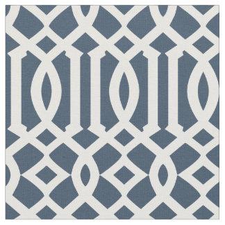 Chic Navy Blue and White Trellis Lattice Pattern