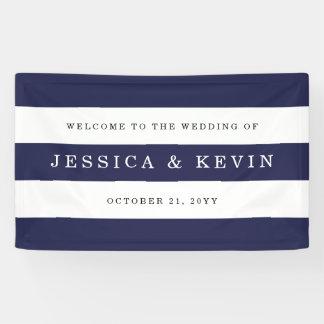 Chic Navy Stripes Wedding