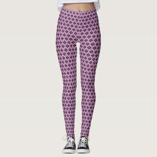 Chic Noir Pattern on Lavender! Leggings