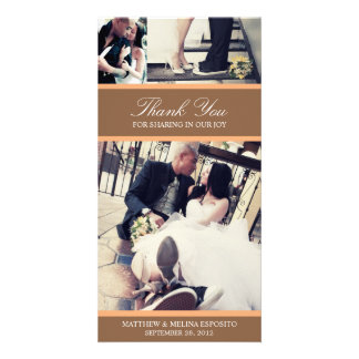 CHIC ORANGE GRATITUDE   WEDDING THANK YOU CARD PICTURE CARD