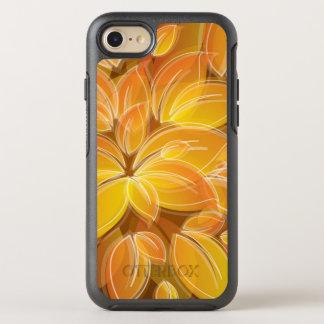 Chic orange Petals Pattern OtterBox Symmetry iPhone 8/7 Case