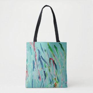 CHIC ORIGINAL HAND PAINTED ABSTRACT TOTE DESIGN