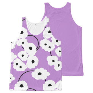 CHIC OVERALL DESIGN TOP_MOD POPPIES All-Over PRINT TANK TOP