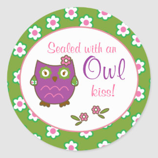 Chic Owl Baby Shower Envelope Seal Stickers