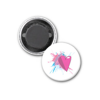 Chic Paintball with Heart Magnet