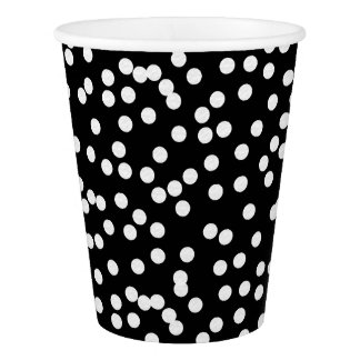CHIC PAPER CUP_MOD WHITE DOTS ON BLACK OR DIY PAPER CUP