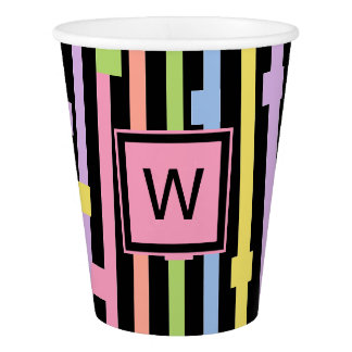 CHIC PAPER CUPS_FUN STRIPES/CONFETTI/MONOGRAM