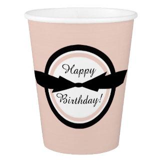 CHIC PAPER CUPS_GIRLY HAPPY BIRTHDAY! PAPER CUP