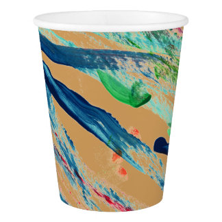 CHIC PAPER CUPS_ORIGINAL ABSTRACT ART PAPER CUP
