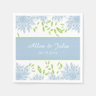 CHIC PAPER NAPKIN_21 BLUE/GREEN FLORAL PAPER NAPKIN
