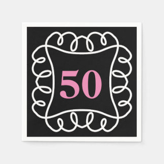 CHIC PAPER NAPKIN_FUN BIRTHDAY BY YEAR. DIY COLORS DISPOSABLE NAPKIN