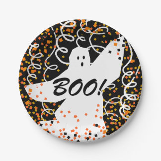 CHIC PAPER PLATE_BOO!_FUN HALLOWEEN GHOST 7 INCH PAPER PLATE