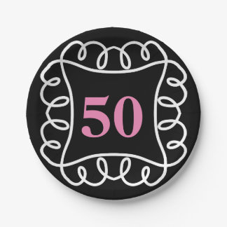 CHIC PAPER PLATE _FUN BIRTHDAY BY YEAR   DIY COLOR