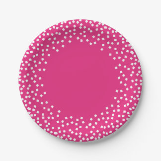 CHIC PAPER PLATE_ HOT PINK/WHITE.  DIY PAPER PLATE