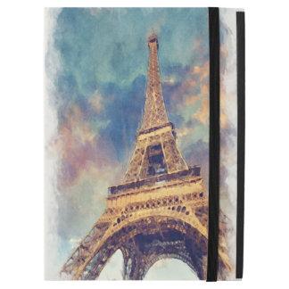 """Chic Paris Eiffel Tower Cute Pastel Watercolor iPad Pro 12.9"""" Case"""