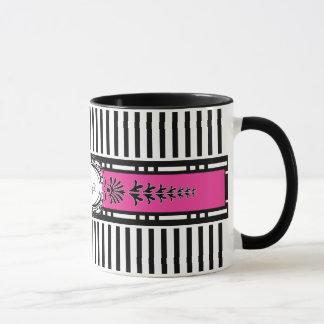 Chic Paris Stripes Coffee Mug with Your Name