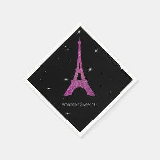 Chic Paris Theme Sweet 16 Birthday Napkins Disposable Napkin