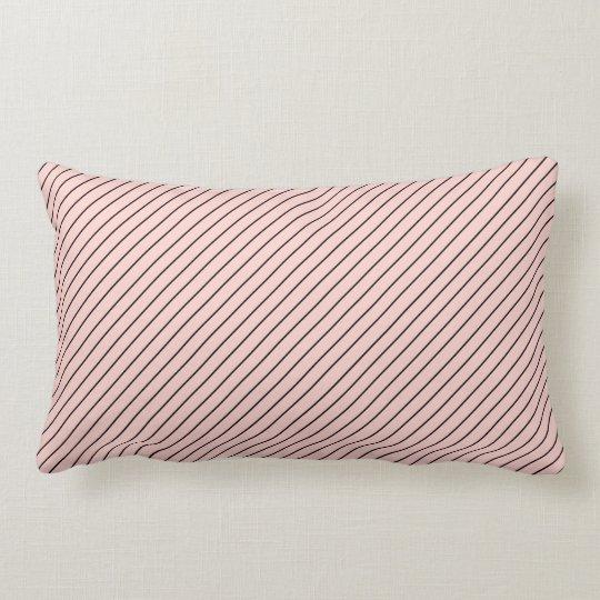 Chic Parisian Pale Pink and Black Pinstripes Lumbar