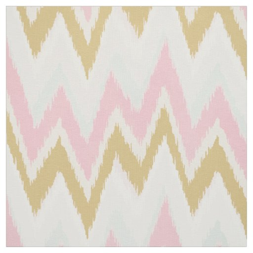 Chic pastel pink gold ikat tribal chevron pattern