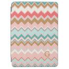 Chic Pastel Pink Mint Chevron Custom Monogram iPad Air Cover