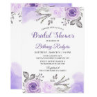Chic Pastel Purple Rose Garden Bridal Shower Card