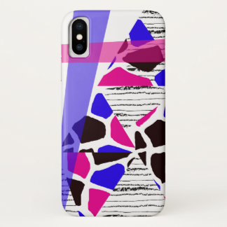 Chic Pattern with Hand Drawn Stripes iPhone X Case