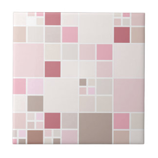 Chic Peach Blush Pink Beige Bathroom Tile
