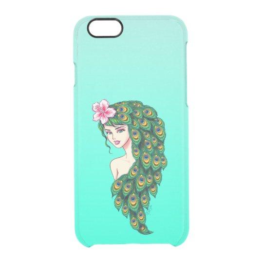 Chic Peacock Goddess Transparent iPhone 6/6s Case