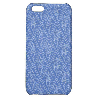Chic Periwinkle Blue Floral Diamond Pattern Cover For iPhone 5C