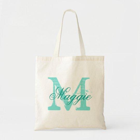 Chic Personalised name monogram Tote Bag