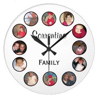 Chic Personalised Photo Round Wall Clock