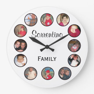 Chic Personalized Photo Round Wall Clock