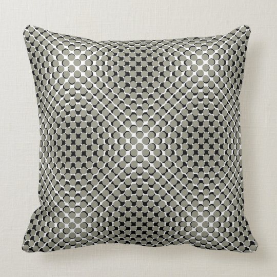 CHIC PILLOW_COOL TAUPE /BLACK MODERN DOTS CUSHION