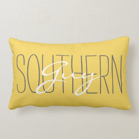"CHIC PILLOW_""SOUTHERN Guy"" MERIGOLD/GREY/WHITE Lumbar"
