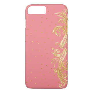 Chic Pink and Gold iPhone 7 Plus Case