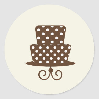 Chic Pink & Brown Stickers