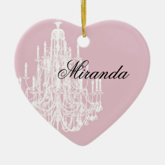 Chic Pink Chandelier Christmas Ornament